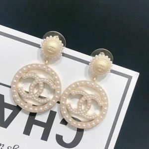 Pearlized Round Dangle Circle Drop Earrings